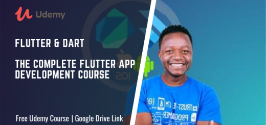 Flutter & Dart - The Complete Flutter App Development Course