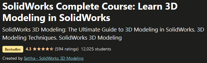 3D Modeling in SolidWorks  Complete Course