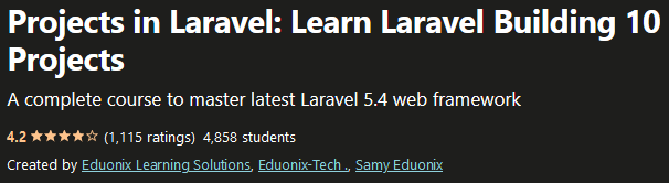 Learn Laravel Building 10 Projects