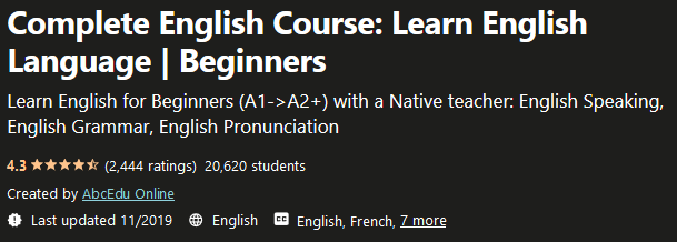 Complete English Beginner Course