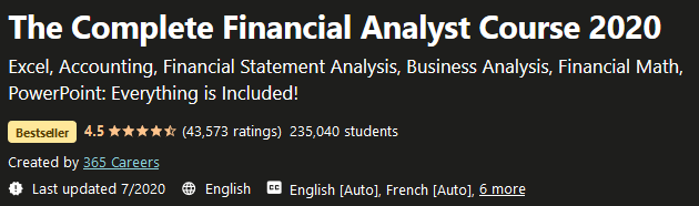 Financial Analyst Course 2020