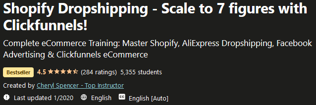 Shopify Dropshipping - Scale to 7 figures with Clickfunnels